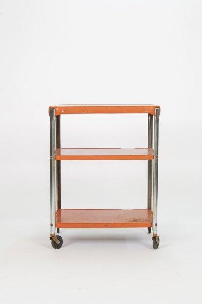 Orange Rolling Cart