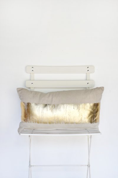 Ivory with Gold Metallic Blend Pillow