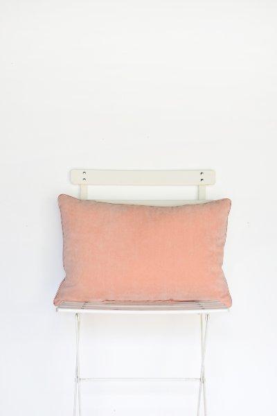 Blush Velvet Lumbar Pillow