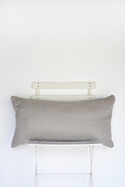 Grey Woven Lumbar Pillow