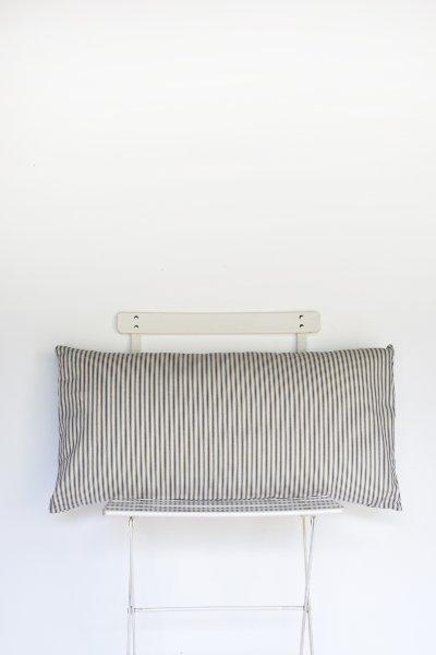 Blue Ticking Stripe Lumbar Pillow