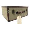 Suitcase - Burlap Trim Case - Large