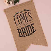 Sign - Burlap Here Comes The Bride