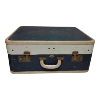 Suitcase - Navy Blue and Cream