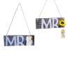 Wooden 'Mr' and 'Mrs' Hanging Signs (set of 2)