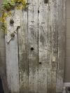 Vintage Barn Door White Distressed