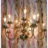 Brass Chandelier Multi Arm Stacked