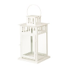 White Metal & Glass Lantern
