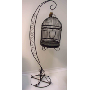 Vintage Birdcage With Stand - Black
