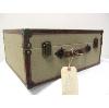 Suitcase - Burlap Trim Case - Medium