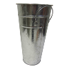 Metal Galvanized Vase - Tall
