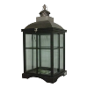 Black Wood/Metal/Glass Lantern 31