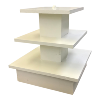 Cream Wood 3 Tier Cupcake Stand