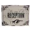 Sign - Vintage 'This Way To The Reception
