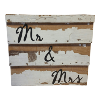 Clapboard Wood Peeling Paint - Mr & Mrs (can be customized for additional fee -SIGN126CUSTOM)