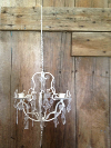 Jeweled Cream Candle Chandelier