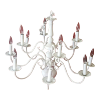 White 12 Arm Chandelier