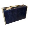 Suitcase-Blue Mottled/Creme Handle w/feet