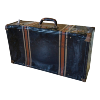 Black/Brown Strip Metal Covered Carrying Trunk 28x9x16