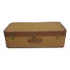 Suitcase - Golden Brown Tweed Med
