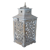 Distressed Wood /Scroll Lantern