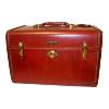 Travel Case Leather Reddish Brown