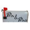 Grey Mailbox Card Holder -  Mr & Mrs