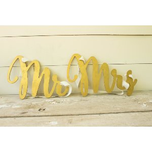 Hanging Mr. & Mrs. Chair Signs