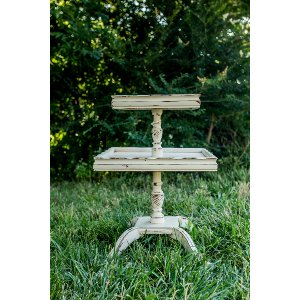 Ivory Two Tiered Side Table