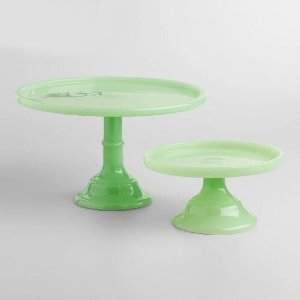 Large Green Cake Stand