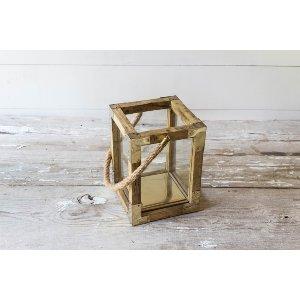Wood & Gold Lantern - Small
