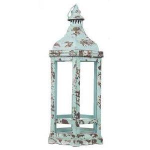 Turquoise Rustic Lantern