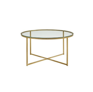 Gold Glass Top Coffee Table