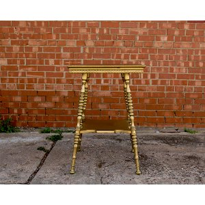 Gold Tall Side Table