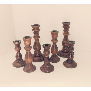 Wooden Candlesticks Collection - Various