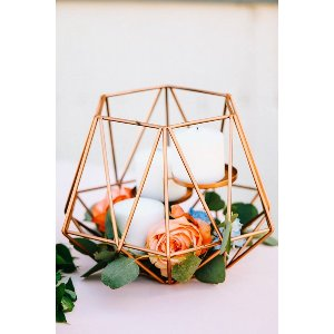 Copper Open Candle Geometrics