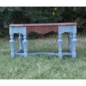 Periwinkle Footstool