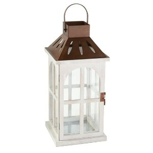 Copper & White Lantern - Large