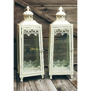 White Fancy Large Lanterns