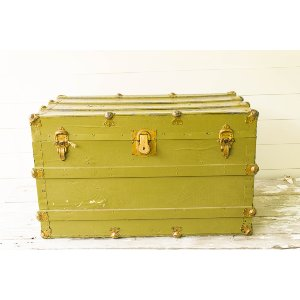 Large Green Army Trunk