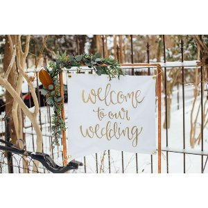 Copper Tapestry Welcome Sign