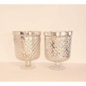 Mercury Glass Urns