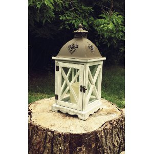 Two Tone Lantern (Battery Candle Inside)