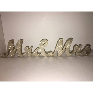 Glitter Mr. & Mrs. Sign