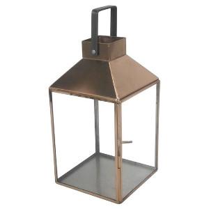 Short Copper Box Lantern
