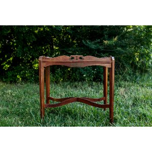 Wooden Scrolled Side Table