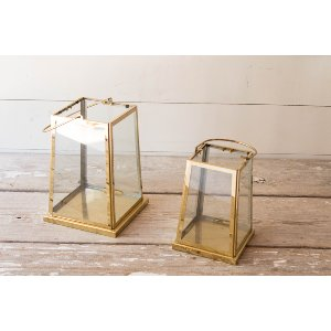 Gold Accent Lanterns  (Rectangle & Tower)