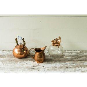 Copper Teapot Floral Container