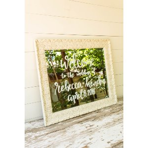 White Welcome Mirror