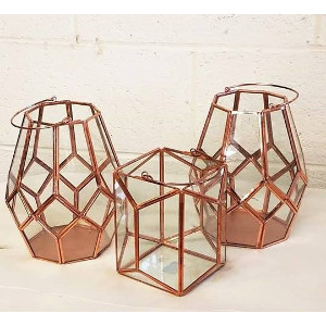 S - Copper & Glass Lanterns - Various
